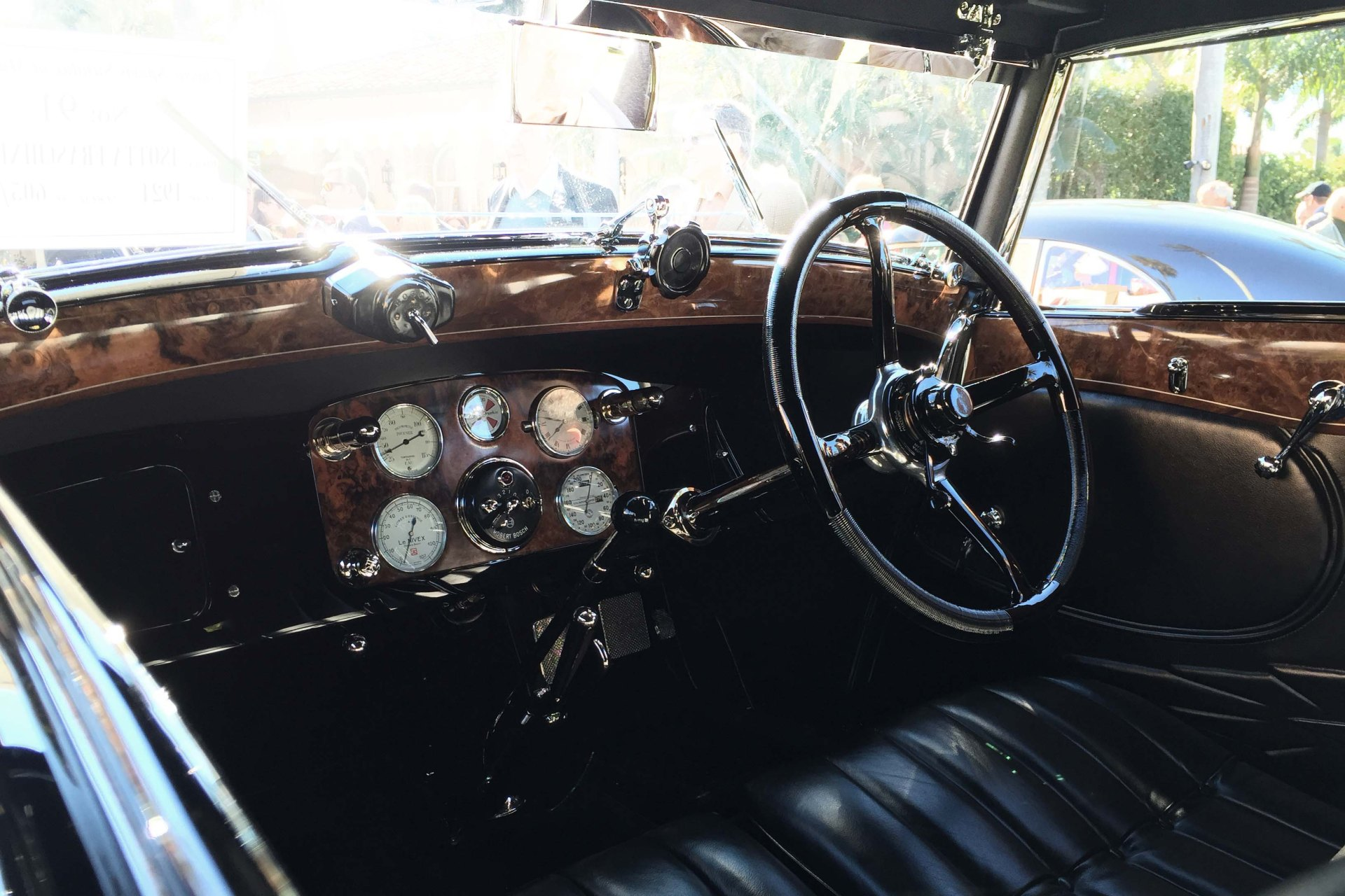 Interior of the 1924 Isotta Fraschini Tipo 8A Cabriolet. Photo by Bradley Price.