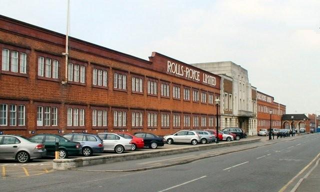 Rolls-Royce factory, Nightingale Road, Derby.