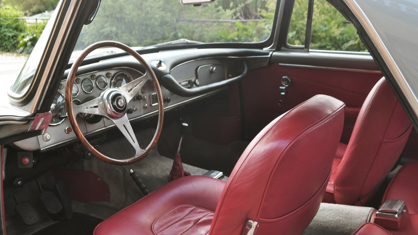 1963 Maserati 3500 GTI Interior. Photo courtesy of COYS.